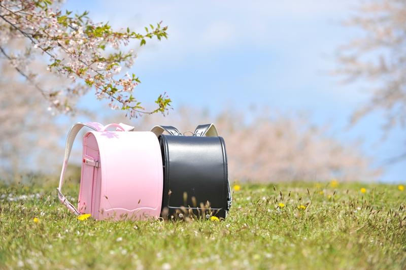 ピンクと黒のランドセル