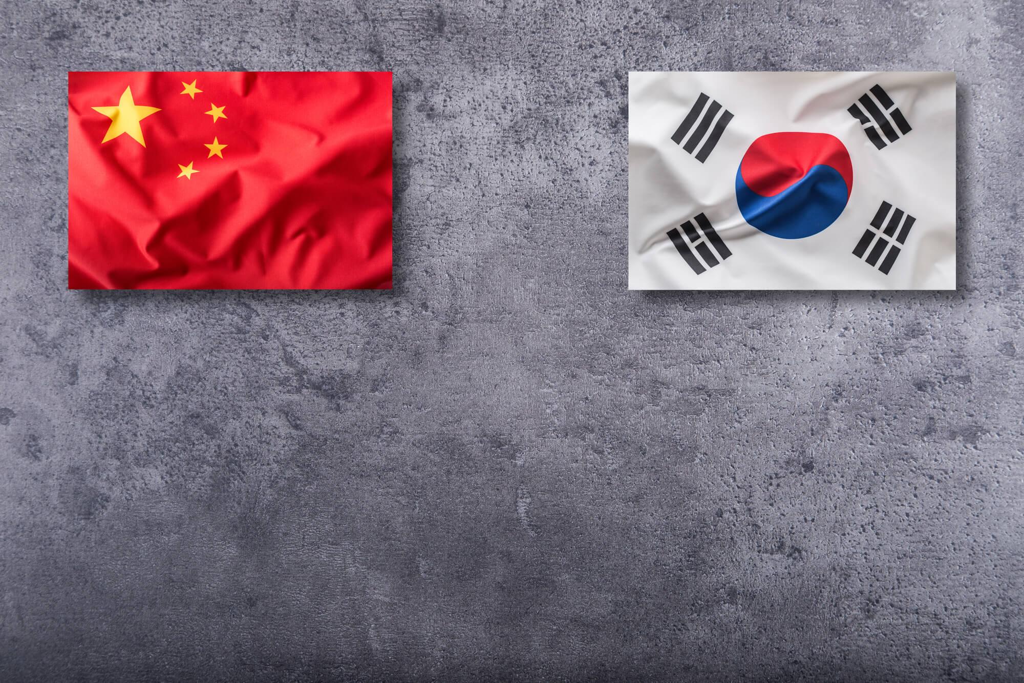 中国と韓国の国旗